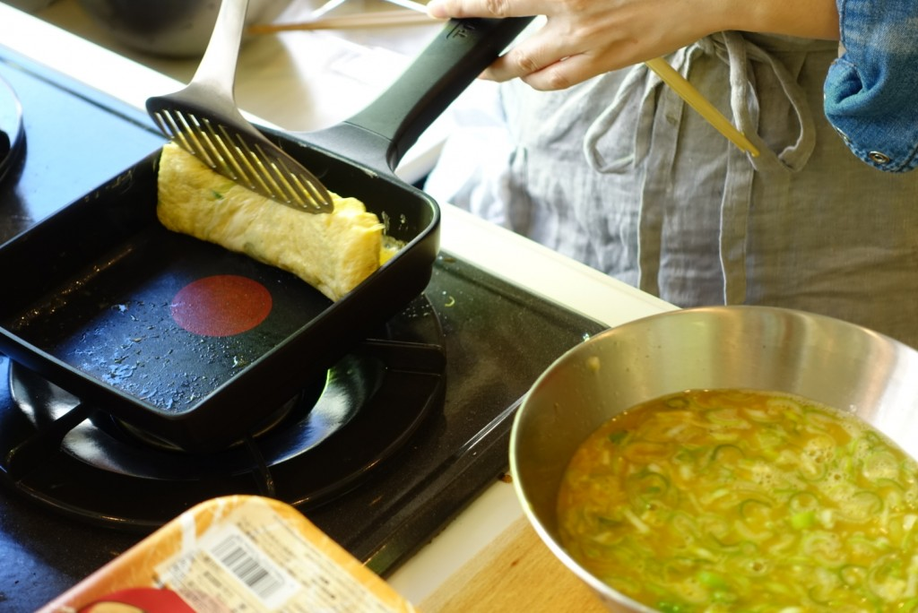卵焼き、味付けが関西風味と好評でした。